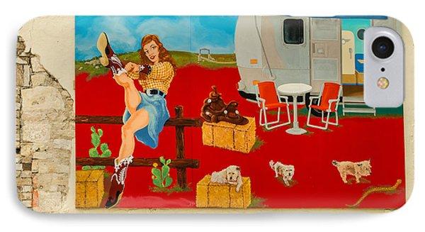 Austin - Camping Mural IPhone Case