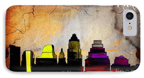 Austin Skyline Watercolor IPhone Case