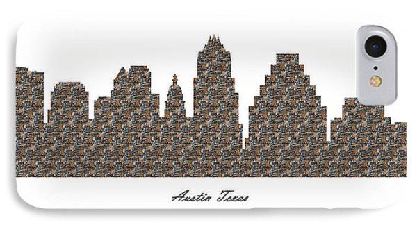 Austin Texas 3d Stone Wall Skyline IPhone Case