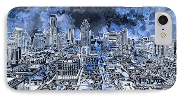 Austin Texas Abstract Panorama 5 IPhone Case