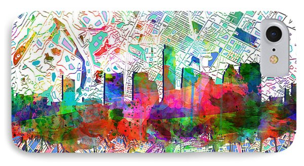 Austin Texas Abstract Panorama 7 IPhone Case