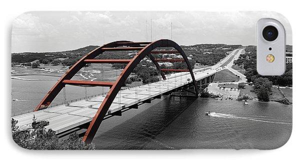 Austin Texas Pennybacker 360 Bridge Color Splash Black And White IPhone Case