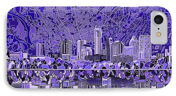 Austin Texas Skyline 4 IPhone Case