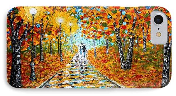 Autumn Beauty Original Palette Knife Painting IPhone Case