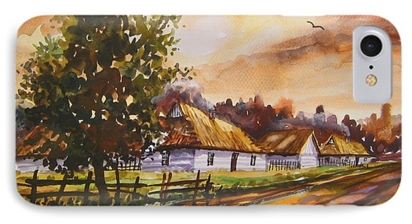 Autumn Cottages IPhone Case