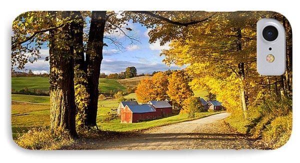 Autumn Farm In Vermont IPhone Case