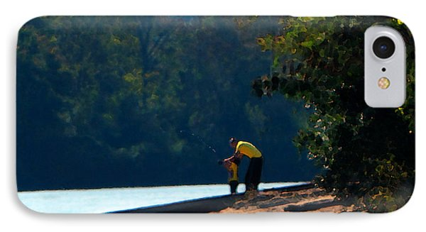 Autumn Fishing Lesson IPhone Case