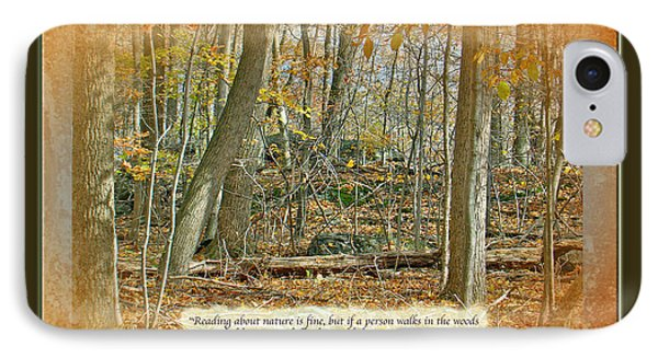 iPhone 8 Case - Autumn Forest - George Washington Carver Quote by Mother Nature