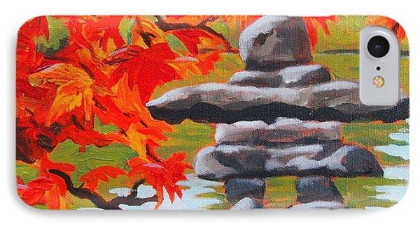Autumn Inukshuk IPhone Case