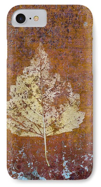 Autumn Leaf On Copper IPhone Case