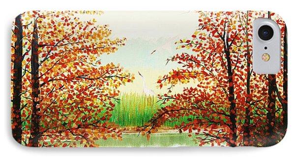 Autumn On The Ema River Estonia IPhone Case