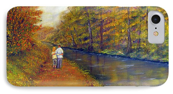 Autumn On The Towpath IPhone Case