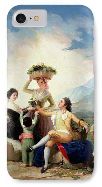 Autumn, Or The Grape Harvest, 1786-87 Oil On Canvas IPhone Case