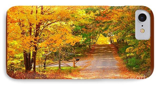 Autumn Road Home IPhone Case