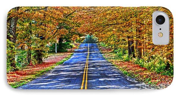 Autumn Road Oneida County Ny IPhone Case