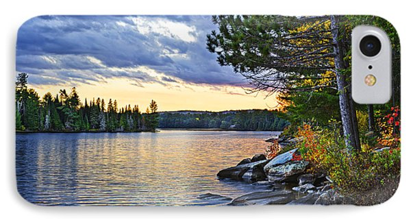 Beautiful Nature iPhone 8 Case - Autumn Sunset At Lake by Elena Elisseeva
