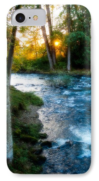 Autumn Sunset On Crabtree Creek IPhone Case