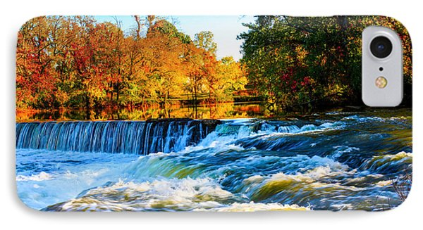 Amazing Autumn Flowing Waterfalls On The River  IPhone Case
