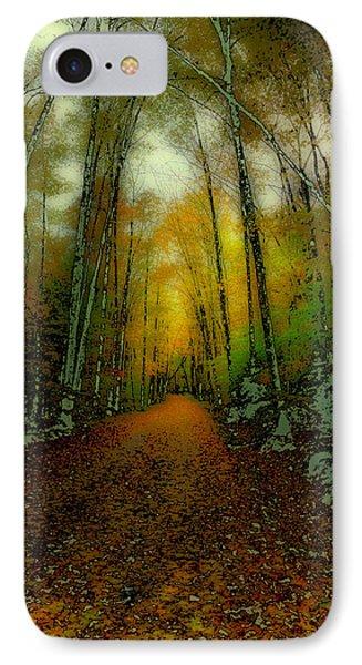 Autumns Back Roads IPhone Case