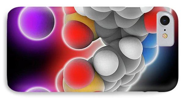 Azorubine Food Dye Molecule IPhone Case