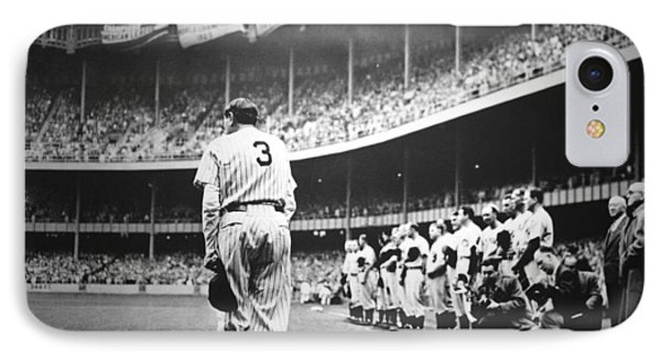 Babe Ruth Poster IPhone Case
