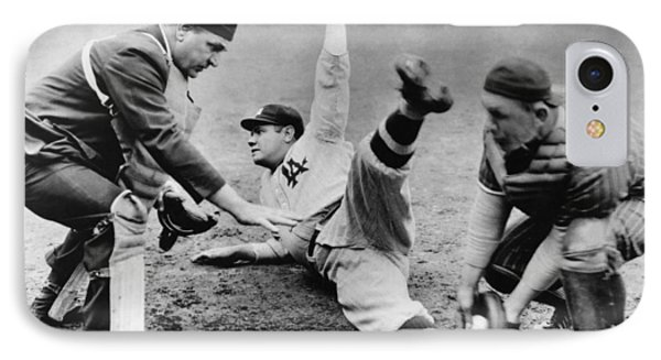 Babe Ruth Slides Home IPhone Case