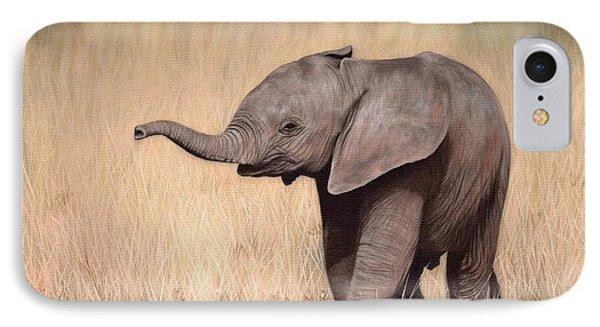 Elephant Calf Painting IPhone Case