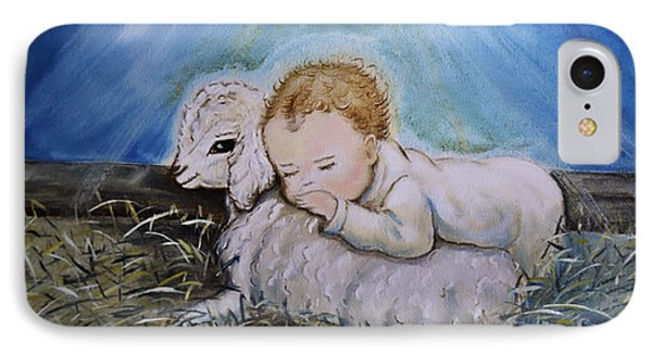 Baby Jesus Little Lamb IPhone Case