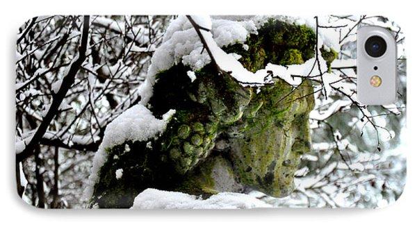 Bacchus Statue Under Snow IPhone Case
