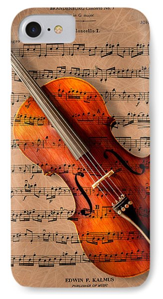 Music iPhone 8 Case - Bach On Cello by Sheryl Cox