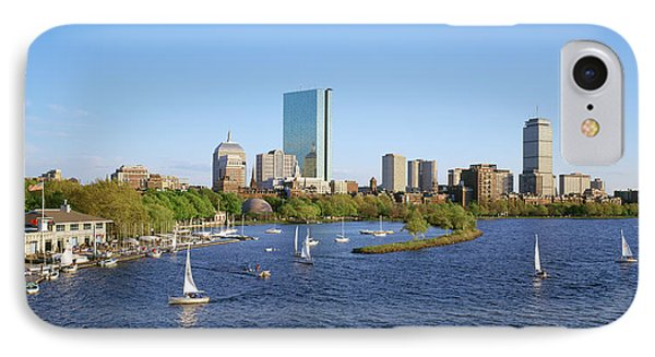 Back Bay And Charles River Boathouse IPhone Case