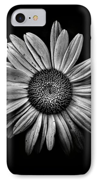 Backyard Flowers In Black And White 13 IPhone Case