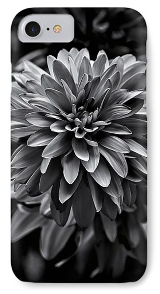 Backyard Flowers In Black And White 15 IPhone Case