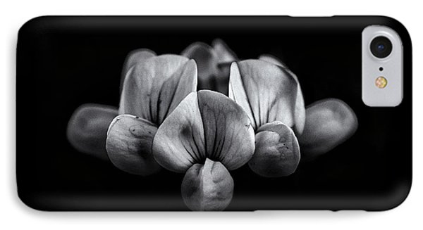 Backyard Flowers In Black And White 5 IPhone Case