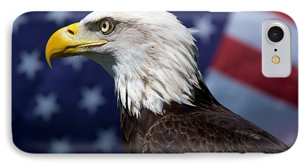 Bald Eagle And Flag IPhone Case