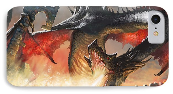 Fantasy iPhone 8 Case - Balerion The Black by Ryan Barger