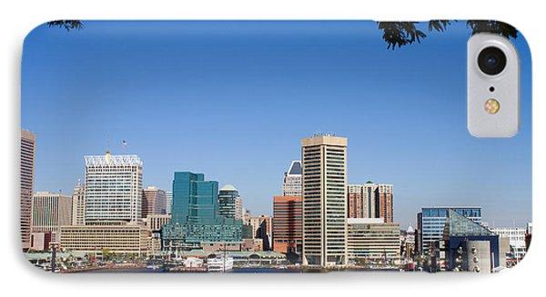 Baltimore Harbor Skyline IPhone Case