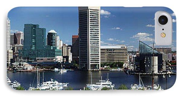 Baltimore Inner Harbor Panorama IPhone Case