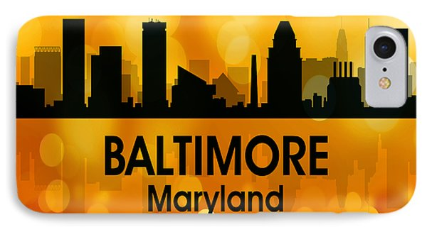 Baltimore Md 3 Squared IPhone Case
