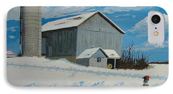 Barn And Pheasant IPhone Case
