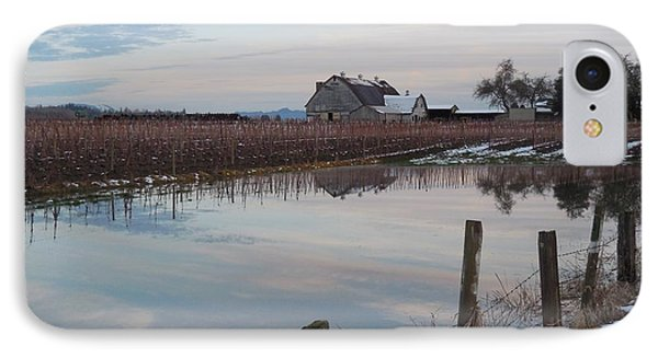 Barn And Reflection IPhone Case