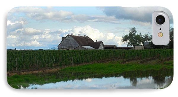 Barn Reflected In Pond  IPhone Case