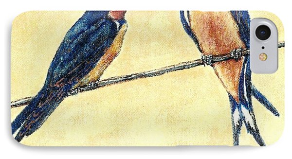 Barn-swallow Pair IPhone Case