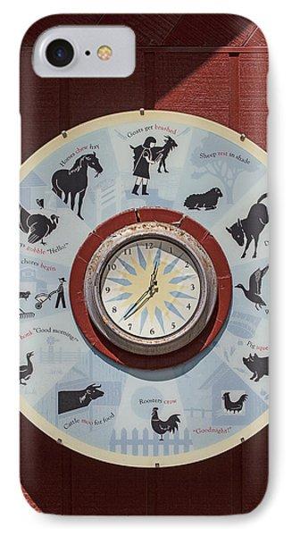 Barn Yard Clock IPhone Case
