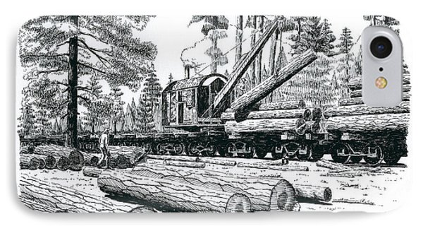 Barnhart Log Loader IPhone Case
