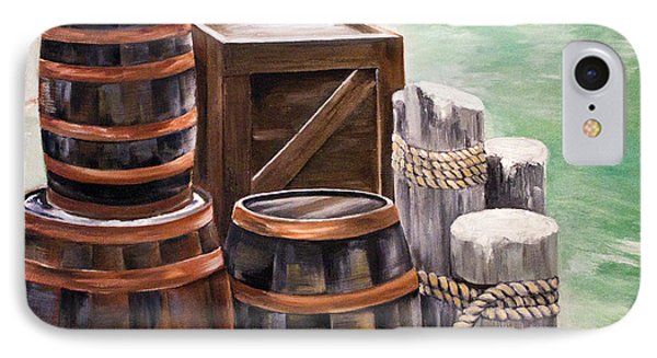 Barrels On The Pier IPhone Case