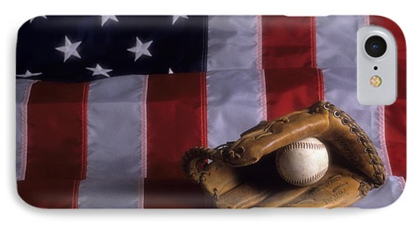 Baseball And American Flag IPhone Case