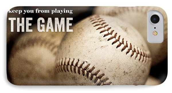 Baseball Art Featuring Babe Ruth Quotation IPhone Case