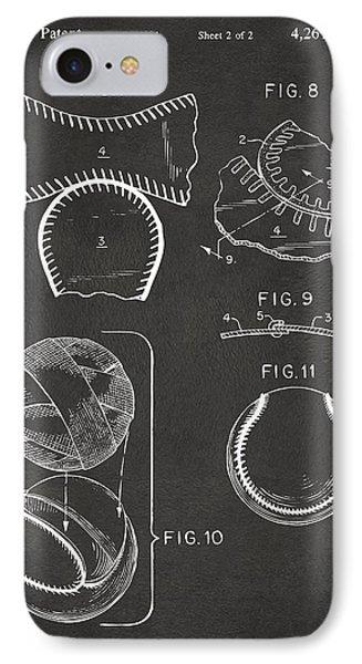 Baseball Construction Patent 2 - Gray IPhone Case