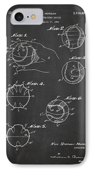 Baseball Training Device Patent Drawing From 1961 IPhone Case